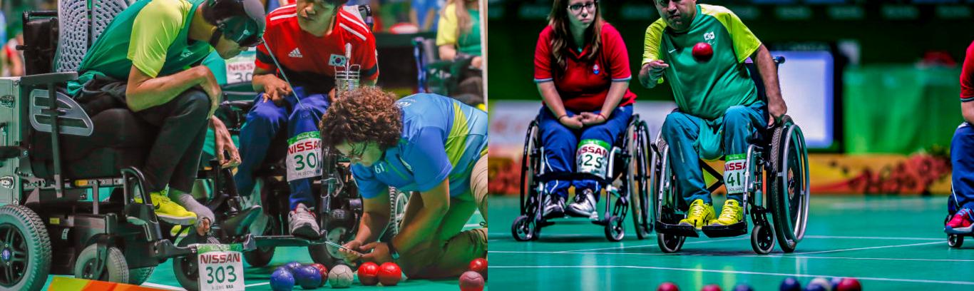bocha adaptada para pessoas com deficiência
