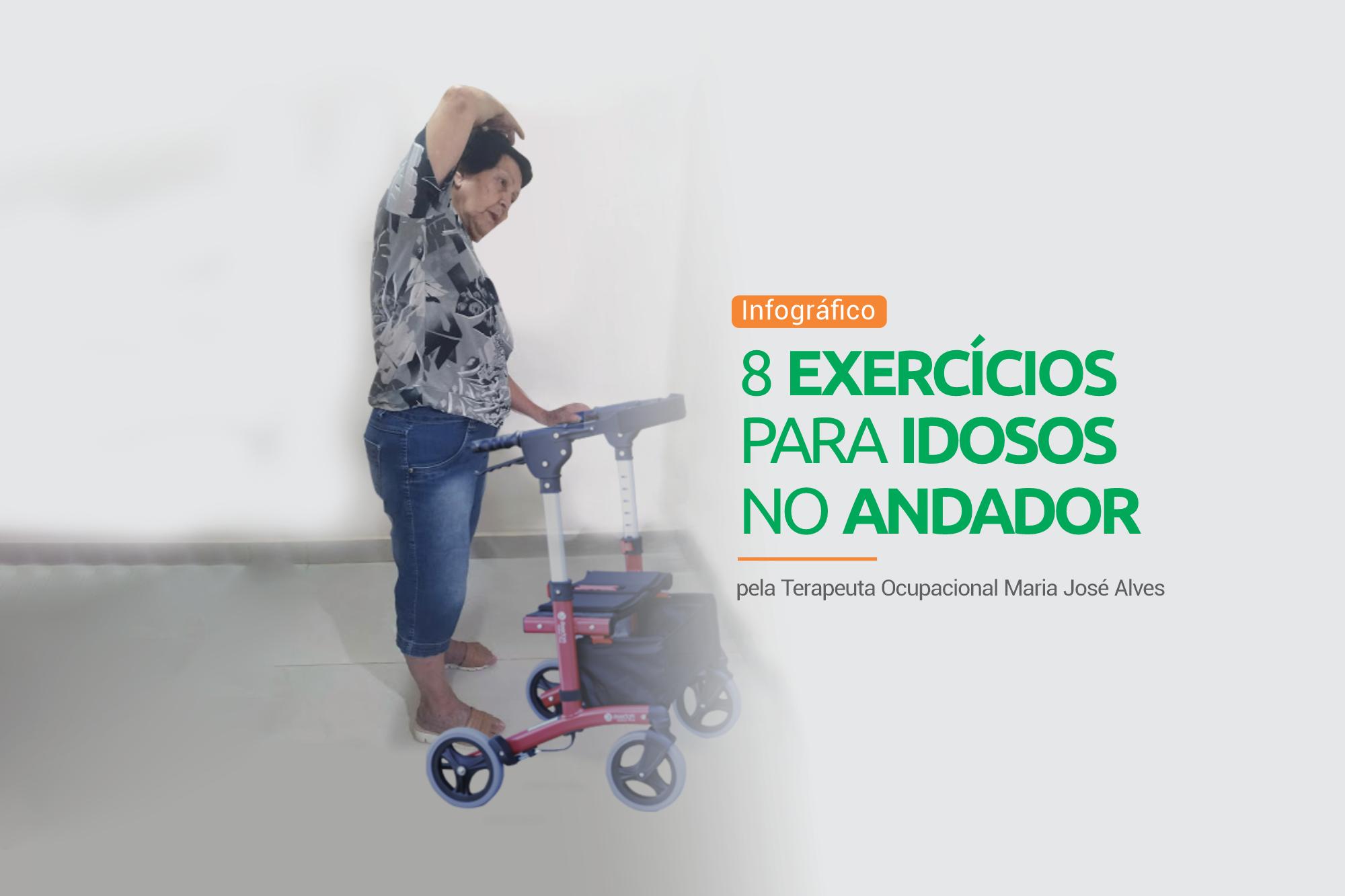 exercícios no andador